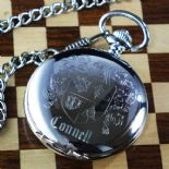 Family Crest Coat of Arms Quartz Pocket Watch, ref FCCW